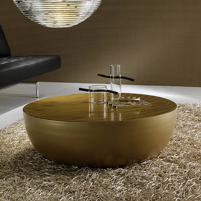 Bonaldo Planet Gold Coffee Table Cocktail Table Glass Living Room Furniture Planet Gold