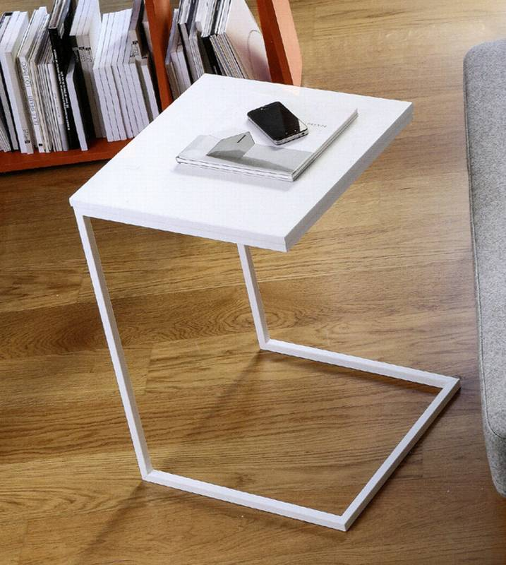 Doimo basic slim side table end table living room for Slim side table
