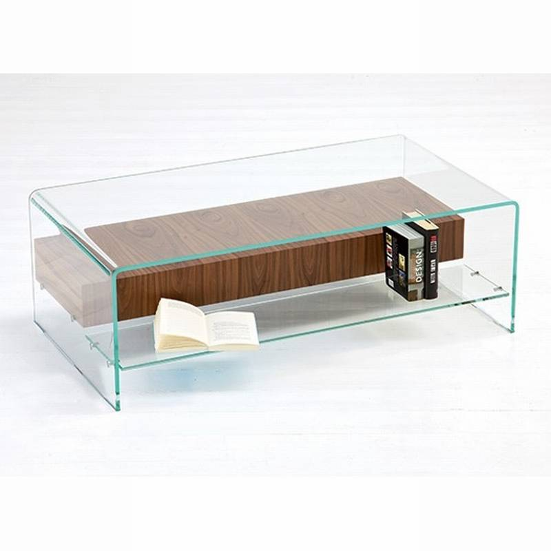Sovet Bridge With Shelf Drawer Coffee Tables Bent Glass Curved Glass Bridge With Shelf