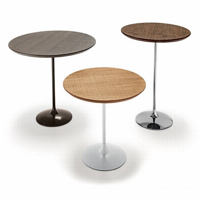 Sovet Tulip Wood Coffee Tables End Bar Table Round Top Homefrenzy