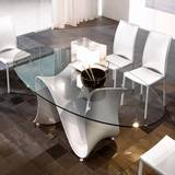 Wave 8014 Oval Dining Tables by Tonin Casa